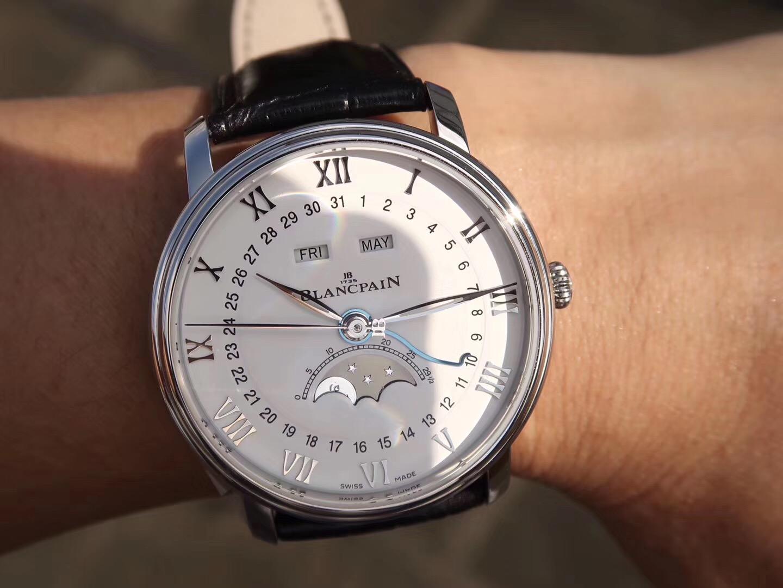 OM宝珀villeret经典系列复刻6639月相真假手表评测