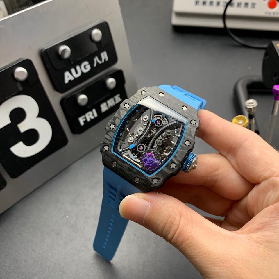 JB理查德米勒RM53-01陀飞轮碳钎维评测