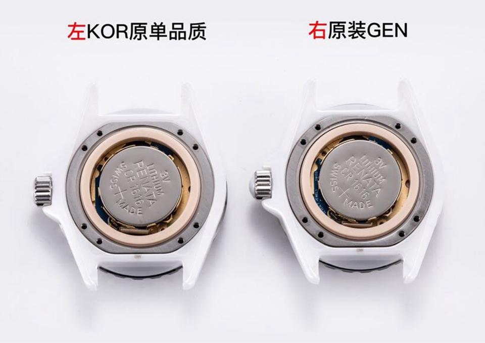 KOR香奈儿陶瓷J12对比原装评测