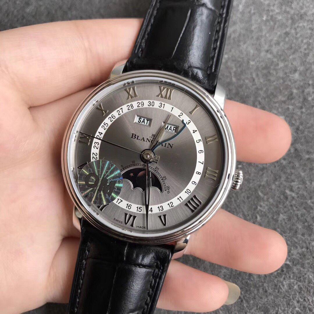 OM厂V2版宝珀经典系列复刻6654月相腕表