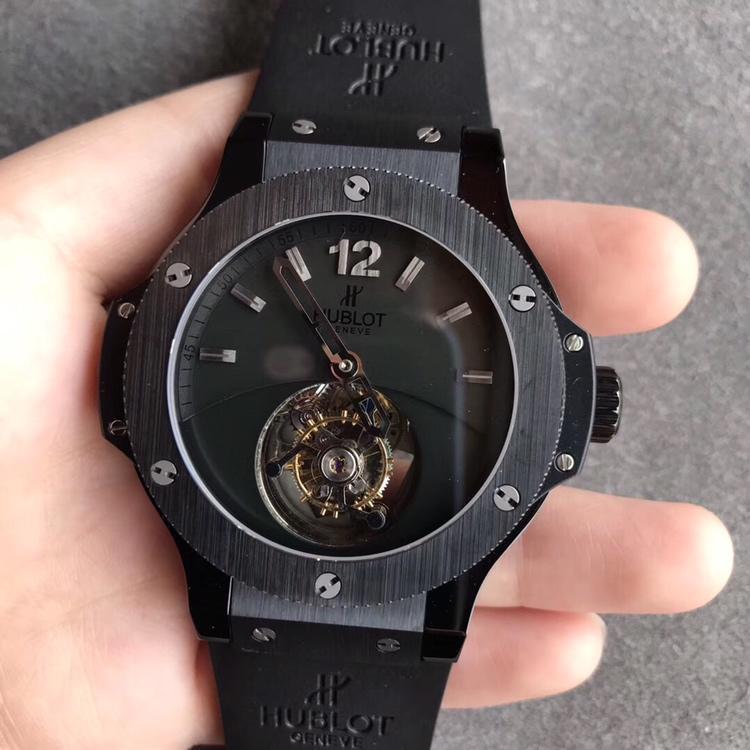 宇舶大爆炸BigBang陀飞轮全黑色手表
