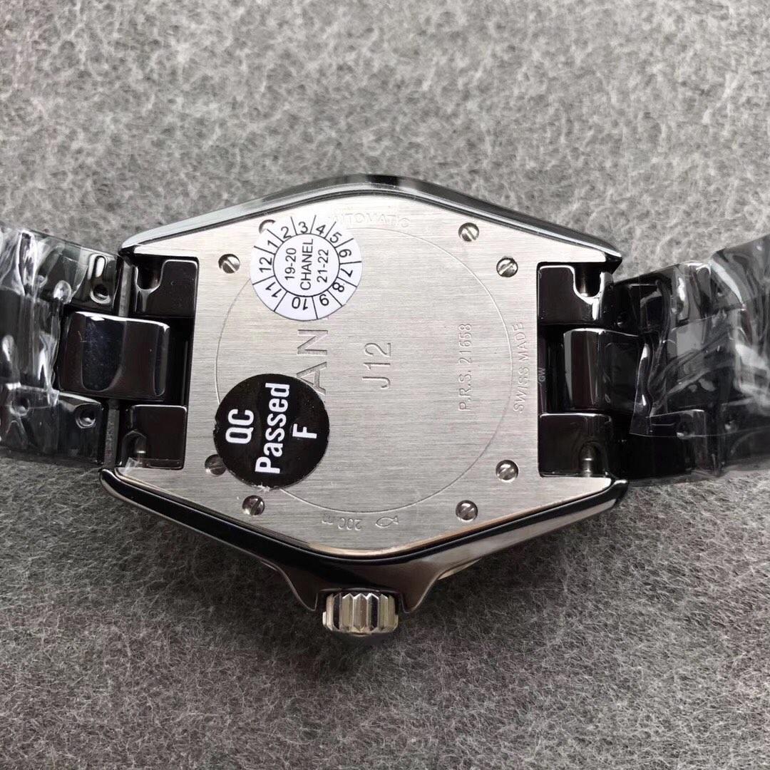 KOR香奈儿J12顶级陶瓷38直径高端女表黑色