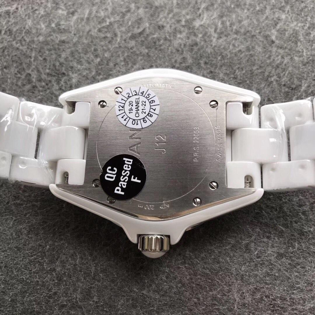 KOR香奈儿J12顶级陶瓷38直径高端女表白色