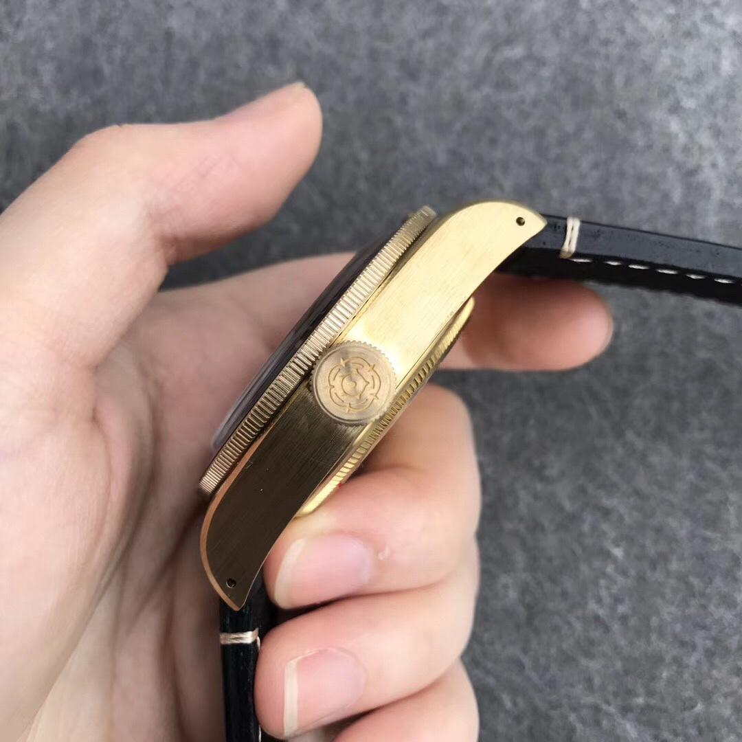 XF帝舵碧湾青铜型小铜盾9015机芯复古男表