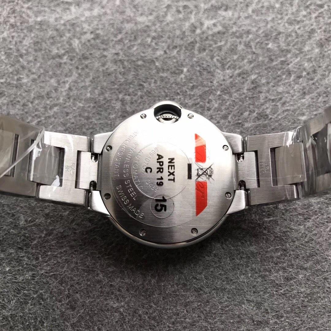 V6卡地亚蓝气球33女表镶钻复刻表
