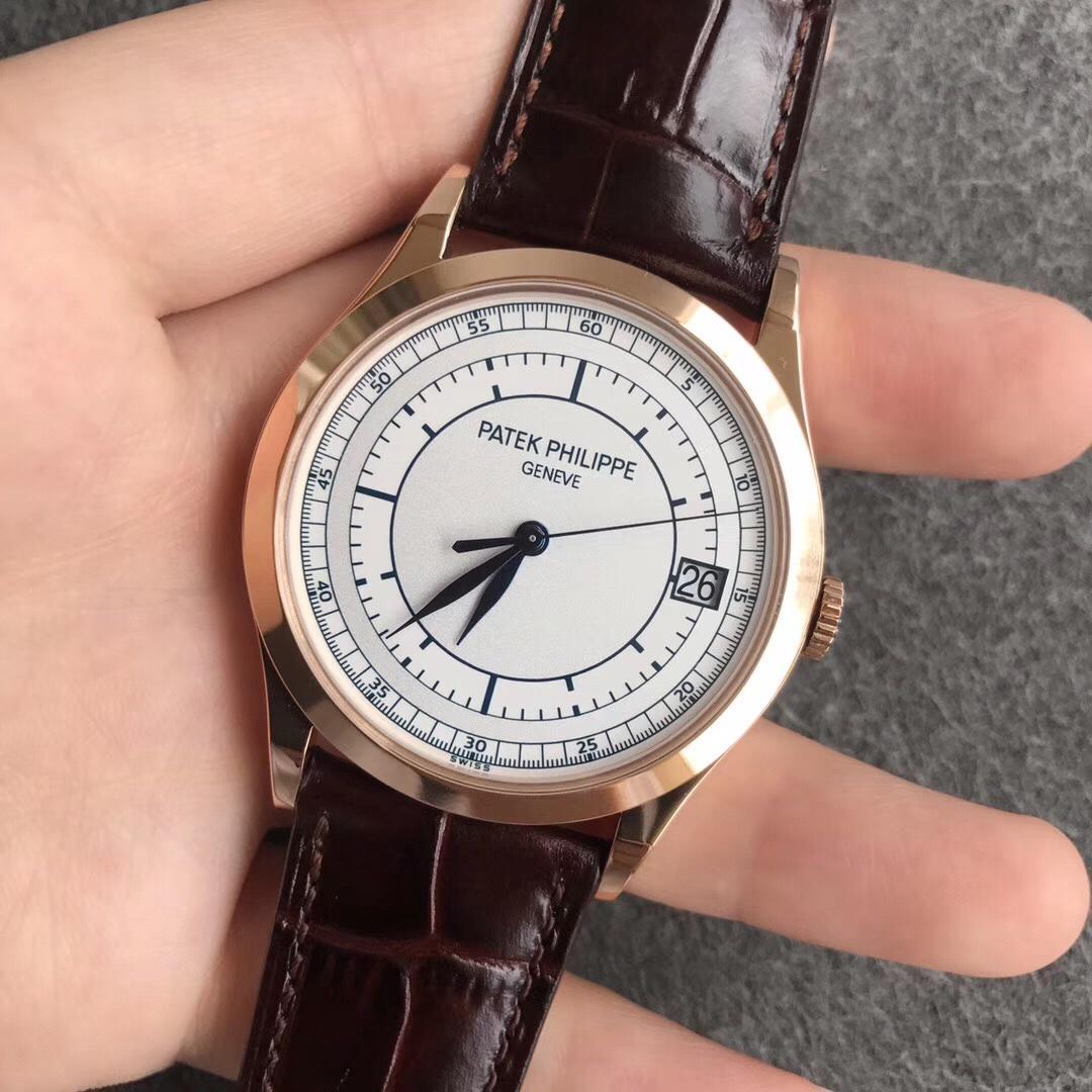 ZF百达翡丽古典表系列5296G-010玫瑰金白盘复刻手表