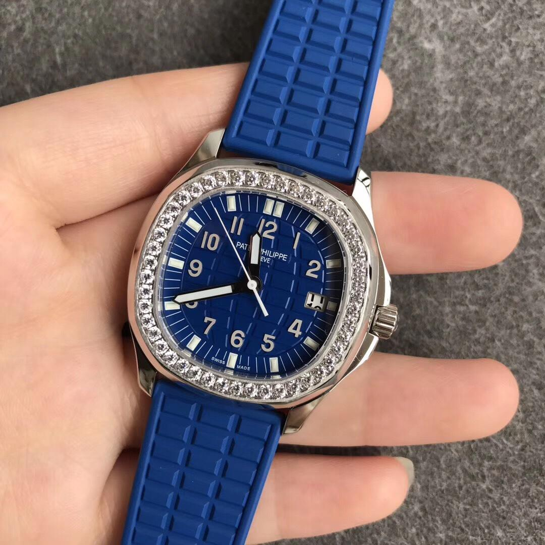 PPF百达翡丽女表机械5067A手雷硅胶表带蓝盘复刻表