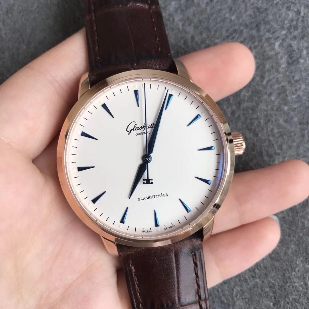 ETC格拉苏蒂原创议员卓越系列腕表限量版玫瑰金白盘