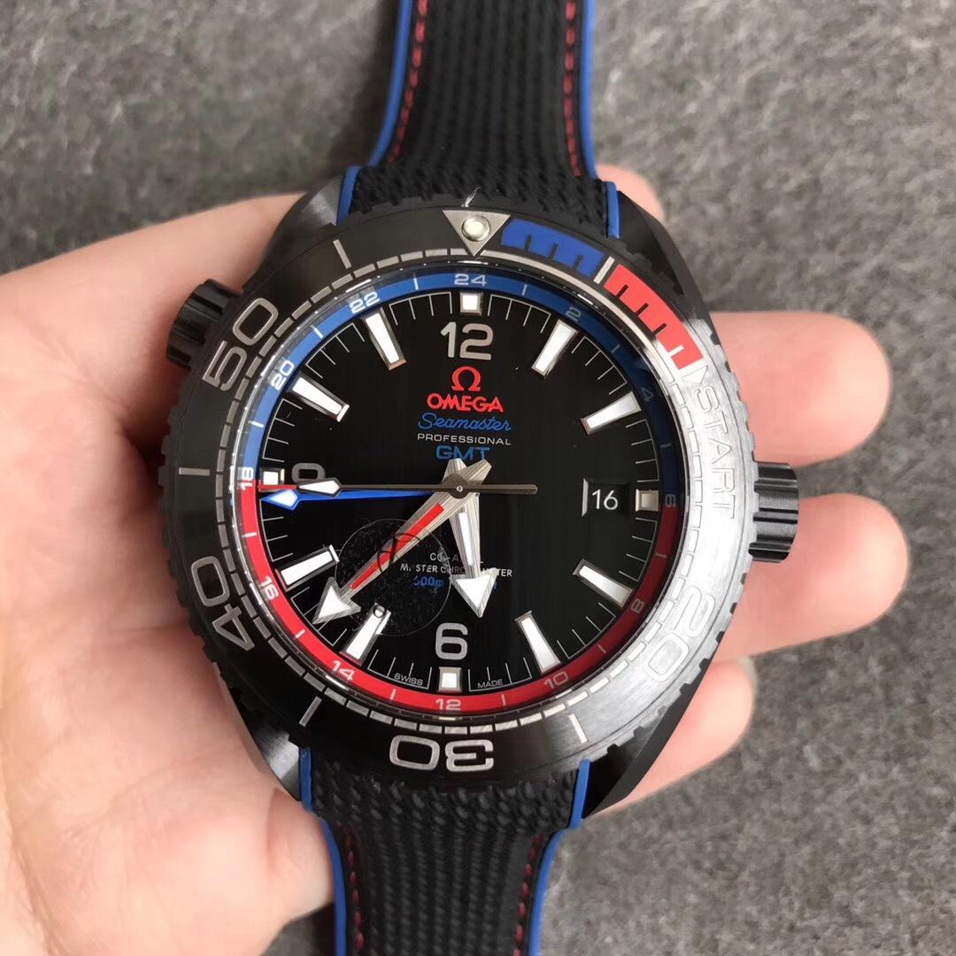 VS欧米茄600米深海之黑全陶瓷GMT 多颜色可选