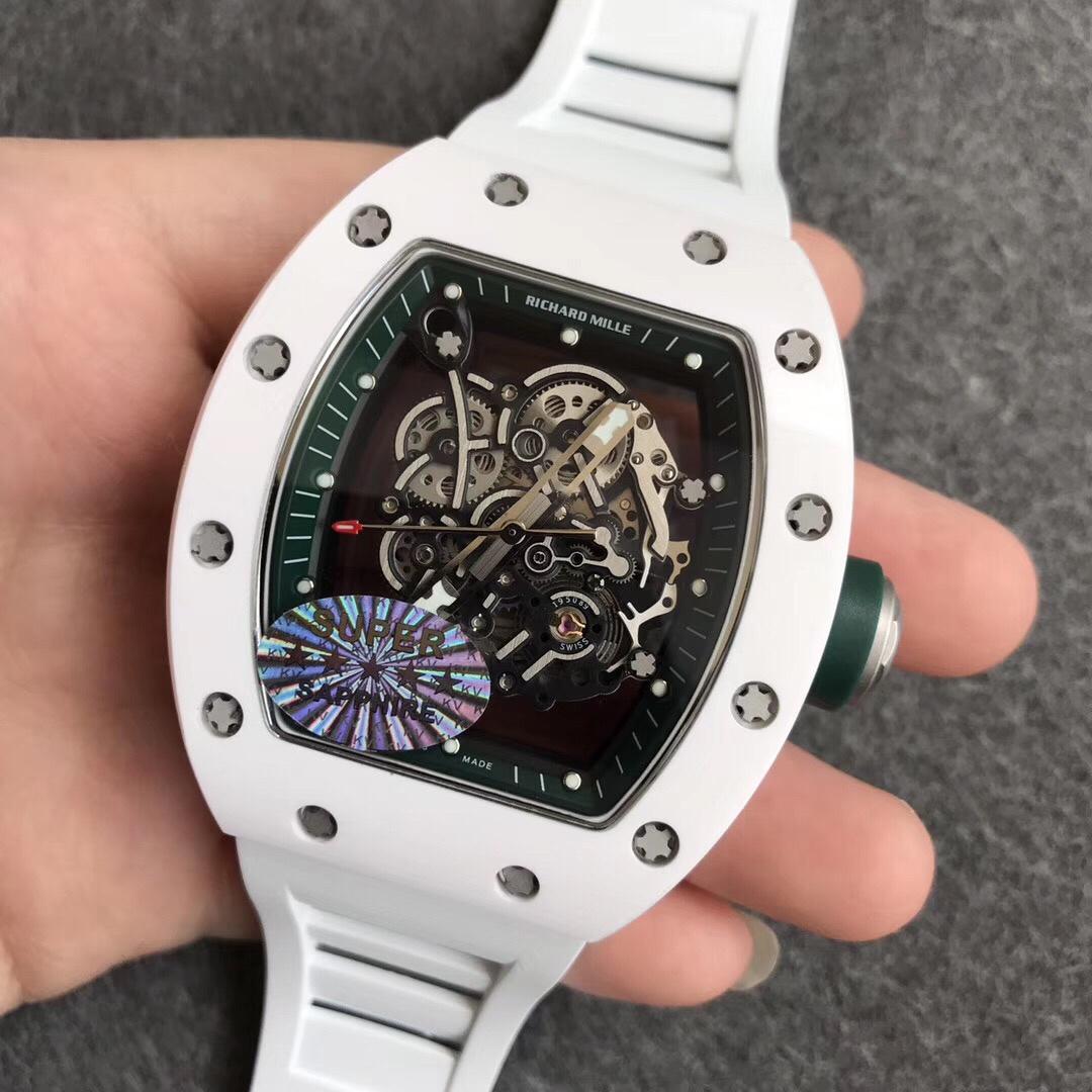 """KV理查德米勒RM055白陶瓷系列""""深邃绿""""男款手表"""