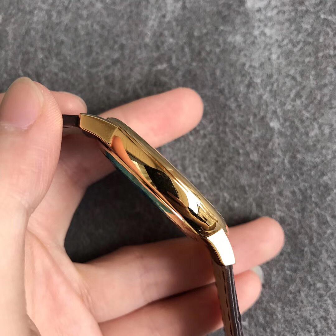 FK厂江诗丹顿85180传承经典系列一体机复刻表 黄金色白盘