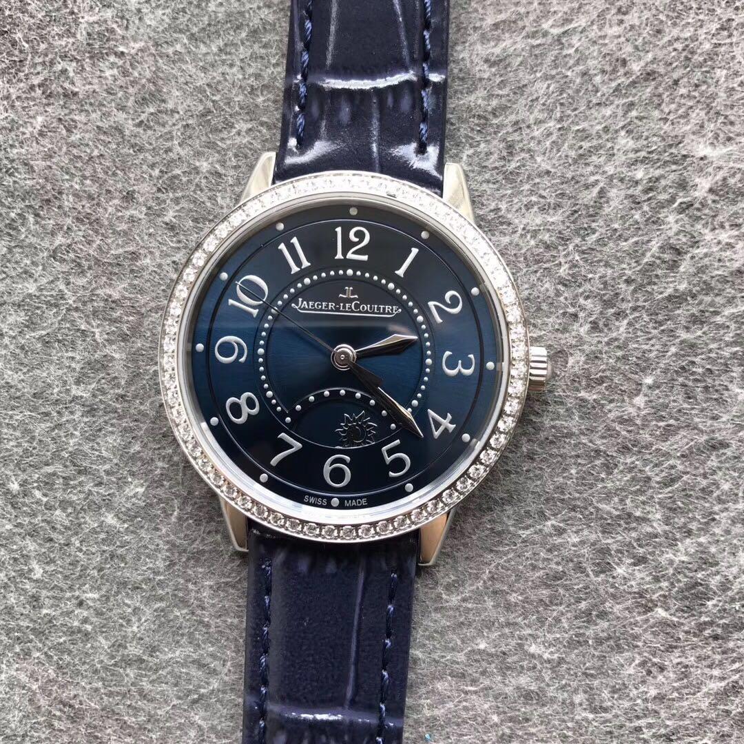 ZF积家约会复刻系列女表机械 简约淑女 气质蓝皮带手表