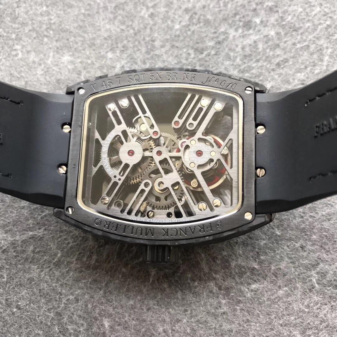 """FM法兰克穆勒碳纤维陀飞轮先锋系列 """"红魔""""男款手表"""