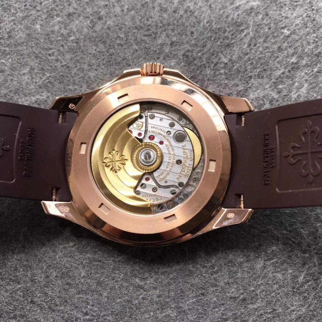 ZF百达翡丽海底探险者系列 手雷复刻表 玫瑰金色