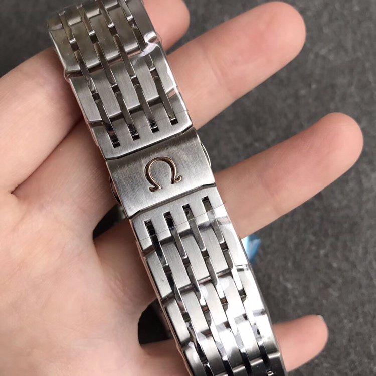 VS欧米茄蝶飞明亮之蓝8500机芯 侧透 多颜色可选 钢带鳄鱼皮