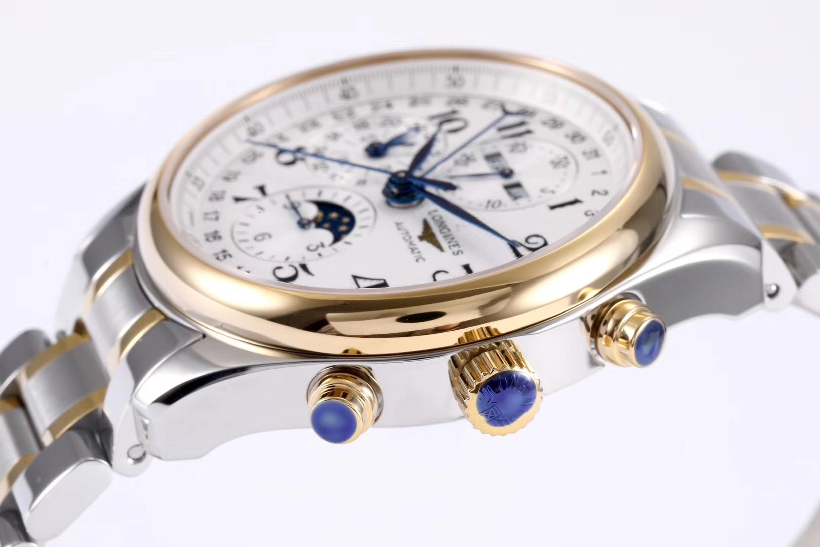 GS浪琴名匠八针月相40直径新款L.687机芯顶级复刻手表