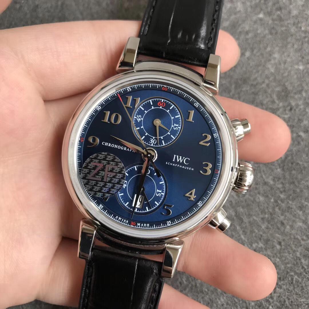ZF万国达文西系列IW393402缎纹深蓝优雅大方复刻表