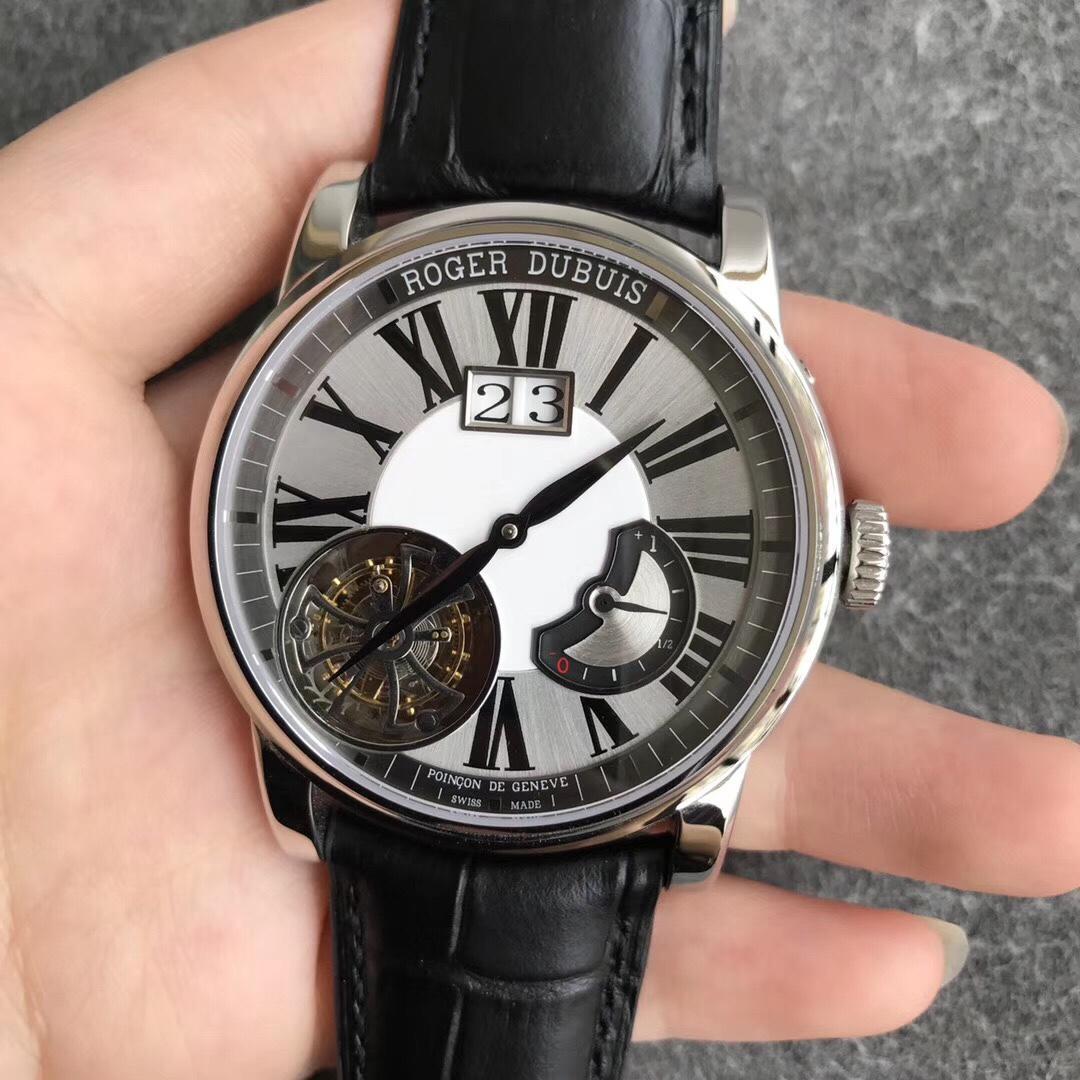 JB罗杰杜彼致敬系列陀飞轮 日历动能显示 白盘