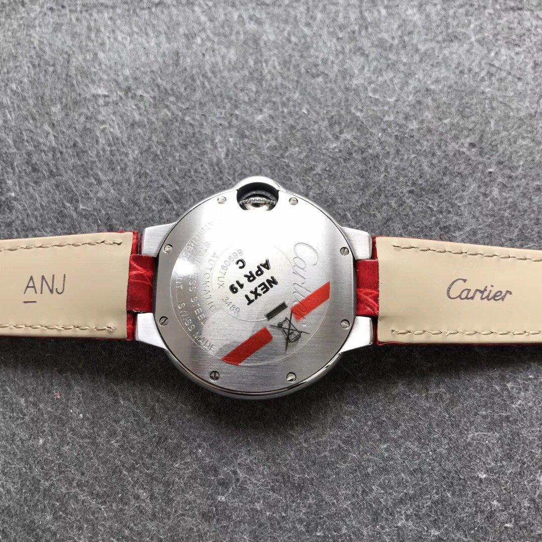 V6厂卡地亚蓝气球女表33中国红限量款复刻表