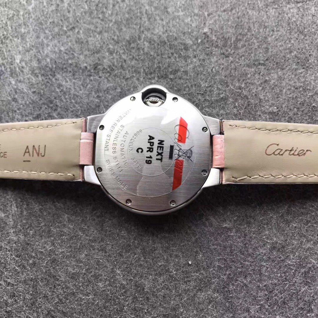 V6卡地亚蓝气球33mm机械复刻女表