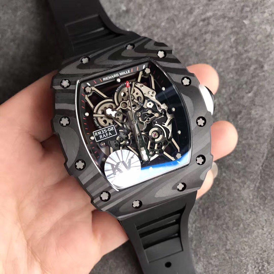 KV理查德米勒RM035碳纤维壳 厚实镂空自动机械男款手表