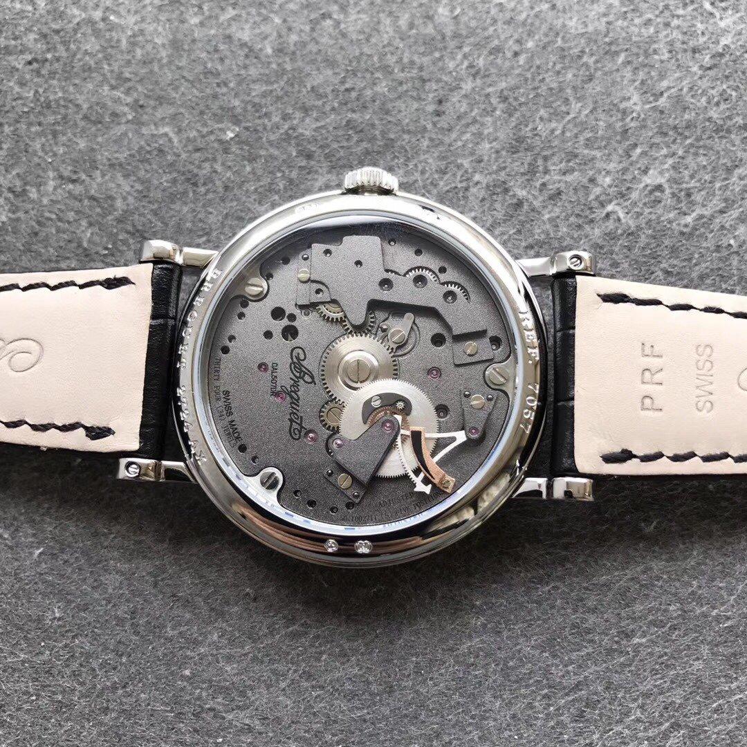 宝玑传世复刻系列镂空飞轮机械手表
