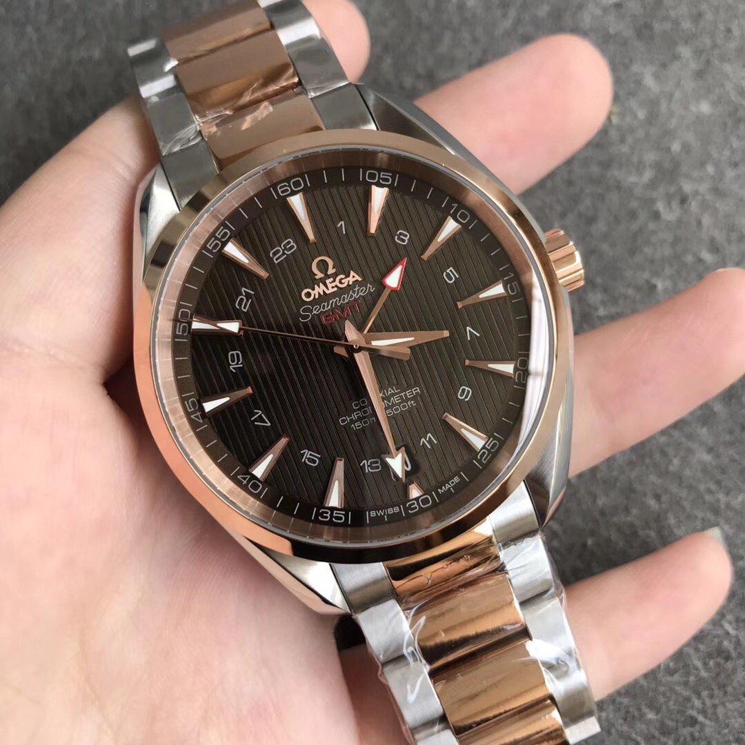 VS欧米茄海马150M系列GMT两地时区 顶级复刻手表