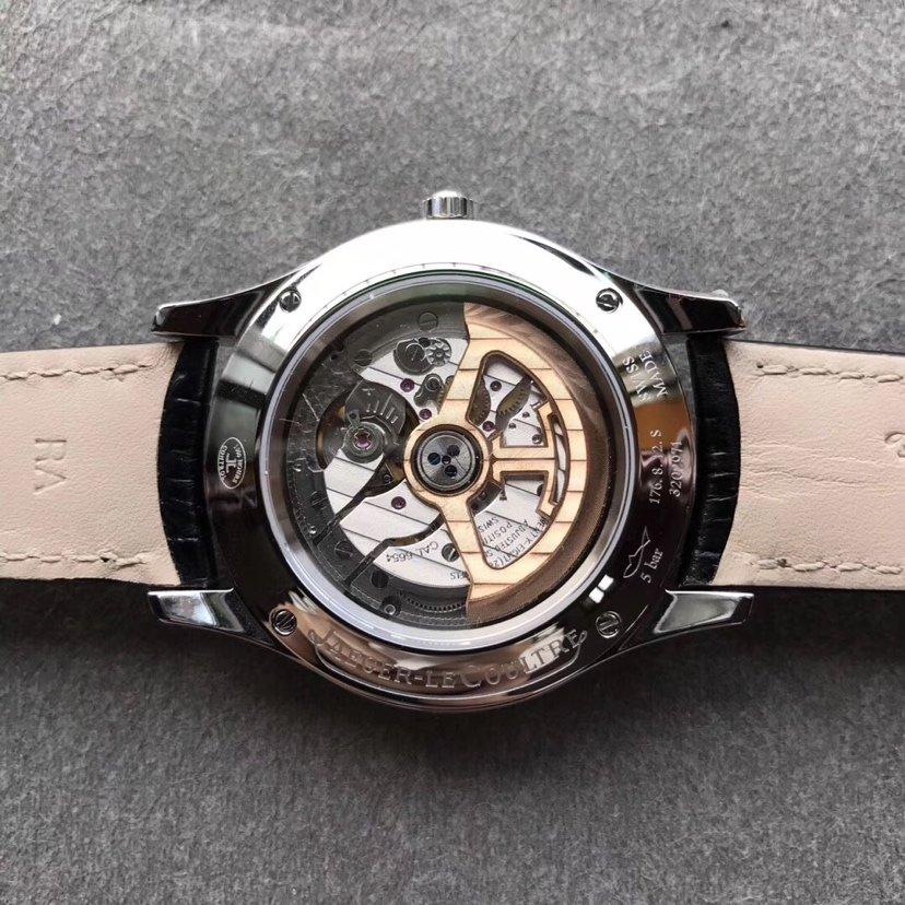 OM积家全月相大师复刻系列月份星期男款皮带手表