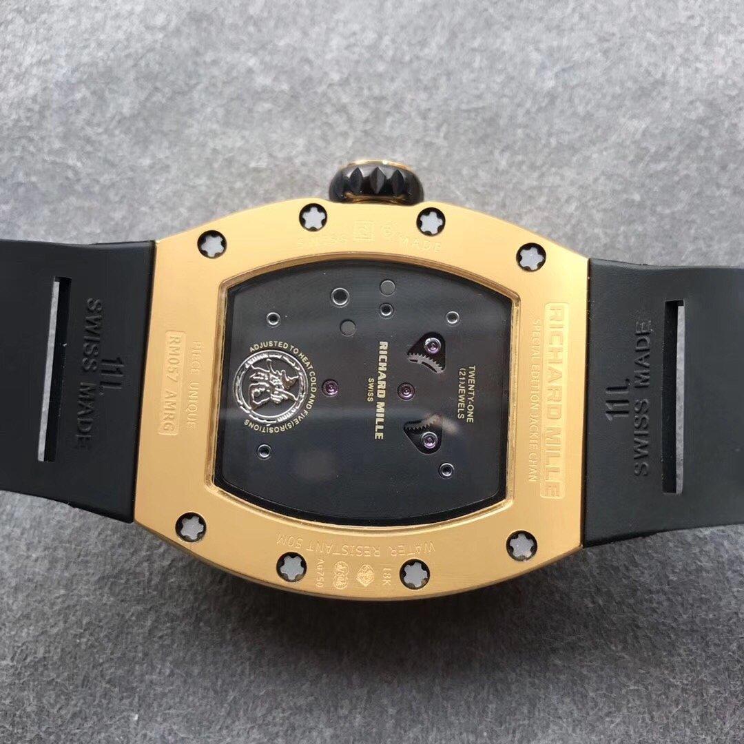 TW理查德米勒RM057成龙盘龙陀飞轮机械橡胶带男款手表