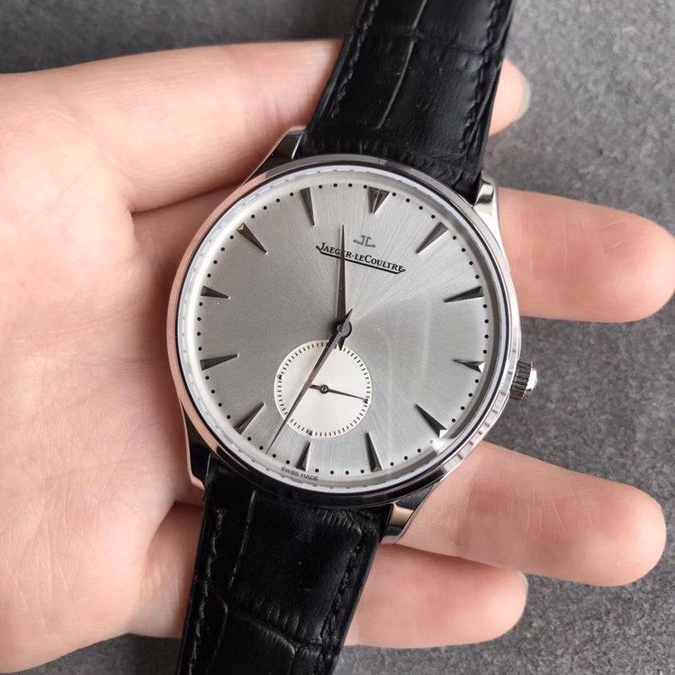 积家大师复刻系列超薄机械手表 独立小秒