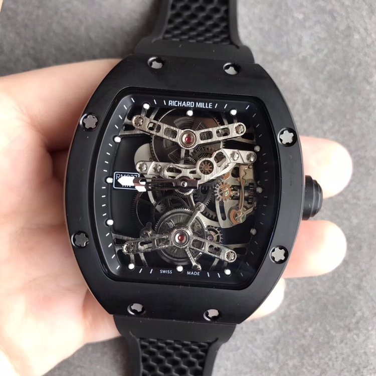 eur理查德米勒RM027镂空机械之魅 真陀飞轮男款手表