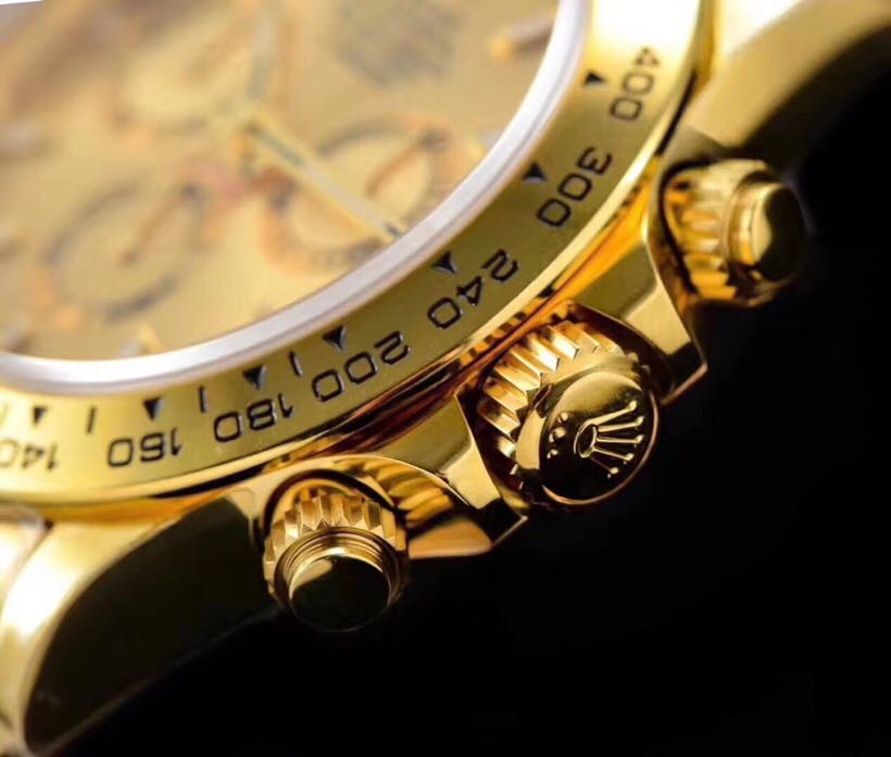 n厂劳力士迪通拿116508黄金版 绿盘金盘
