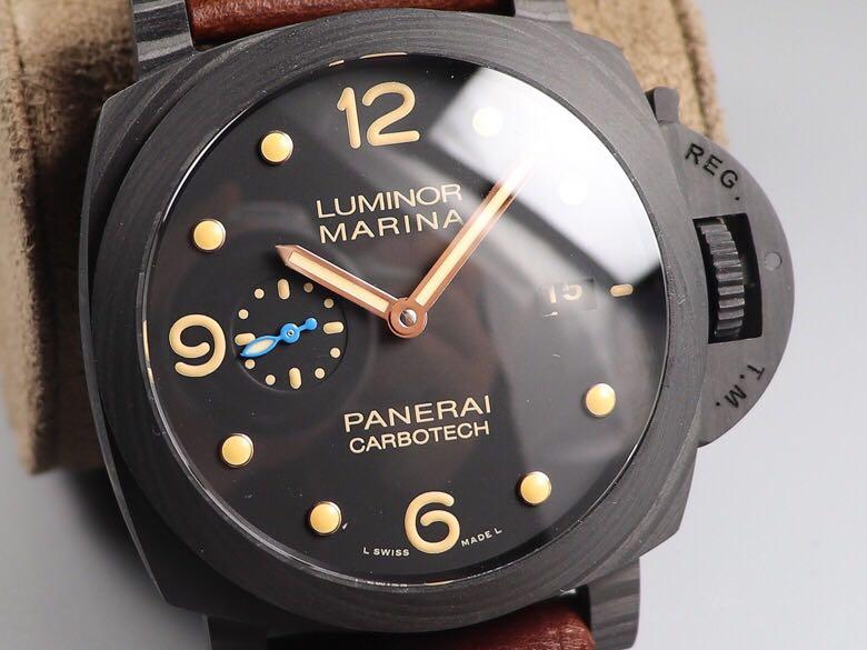 VS沛纳海pam00661碳纤维顶级复刻表 轻薄男表