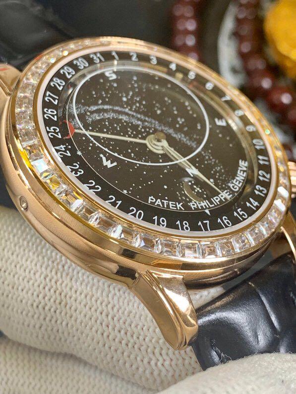 百达翡丽18K金表南非真钻星空系列机械复刻表真金不掉色男士腕表带证书