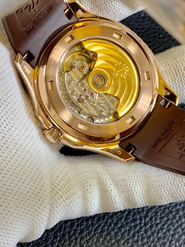 百达翡丽18K金表手雷机械复刻表真金不掉色男士腕表