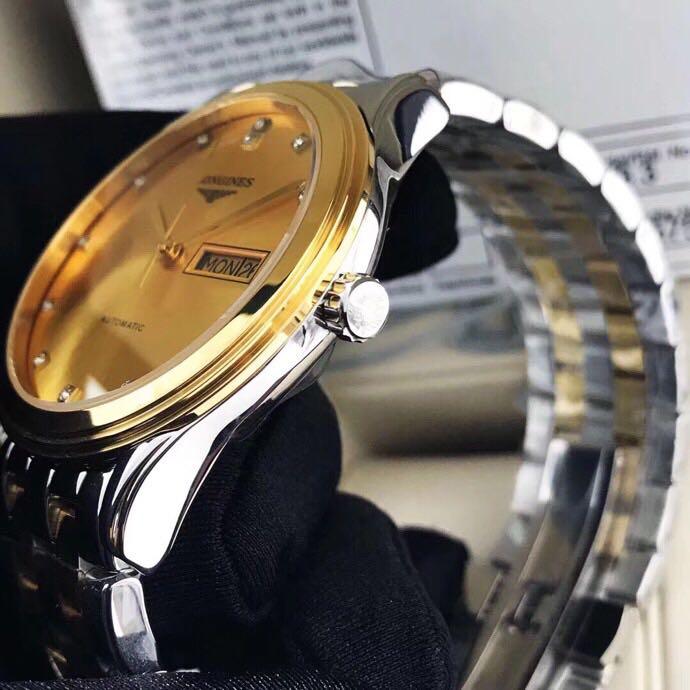 浪琴军旗双历男士机械复刻手表