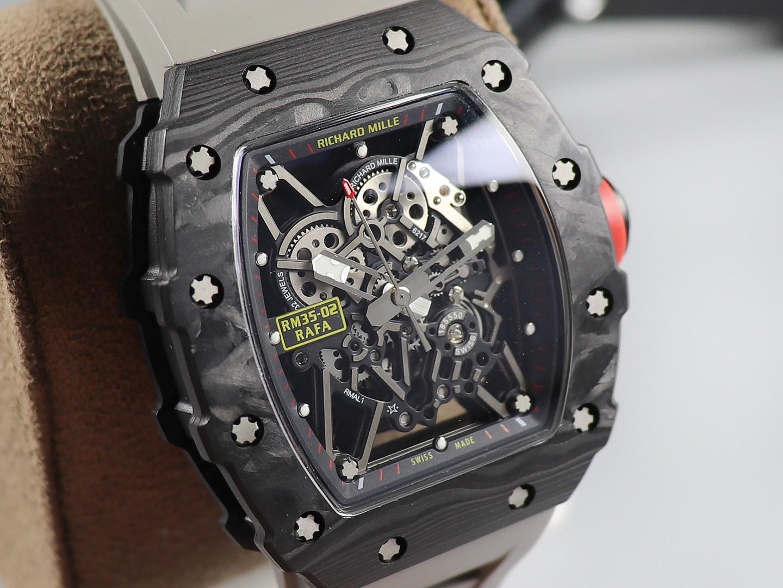 KV理查德米勒RM-35最强进口原纹碳纤维V3升级版顶级复刻手表