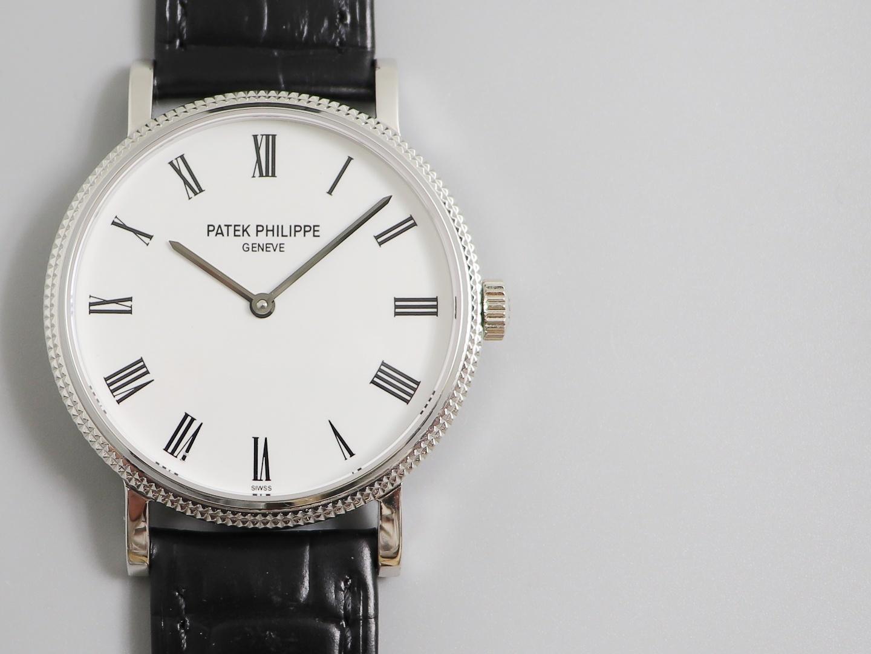 百达翡丽复刻表Calatrava系列5120G男士简约经典机械腕表