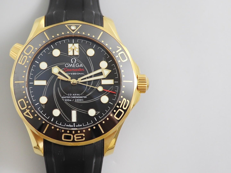 VS厂欧米茄海马300米复刻表 黄金版007詹姆斯邦德女王特使 限量版